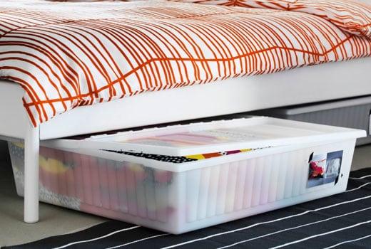 caisse rangement sous lit