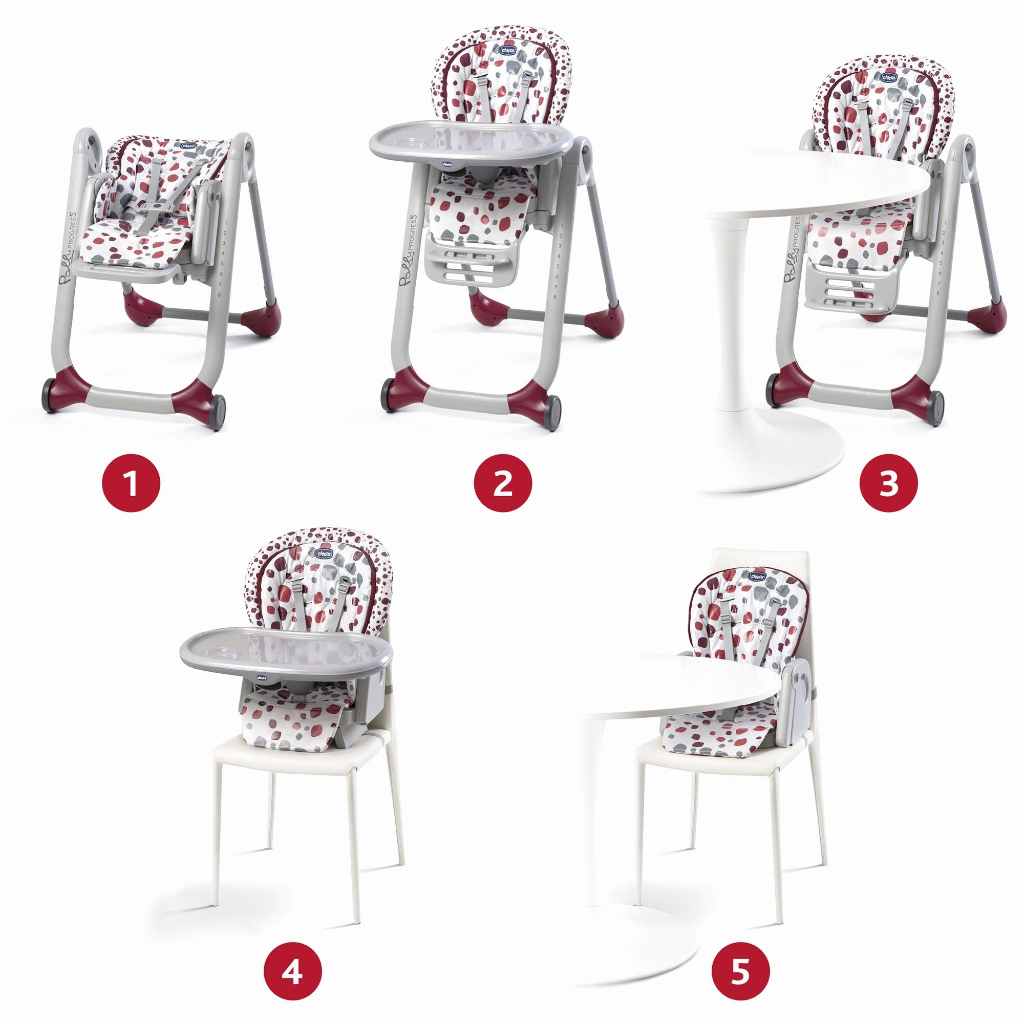 chaise haute chicco polly progress