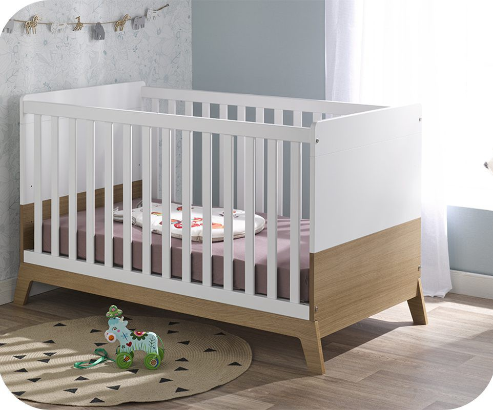 lit bébé bois blanc