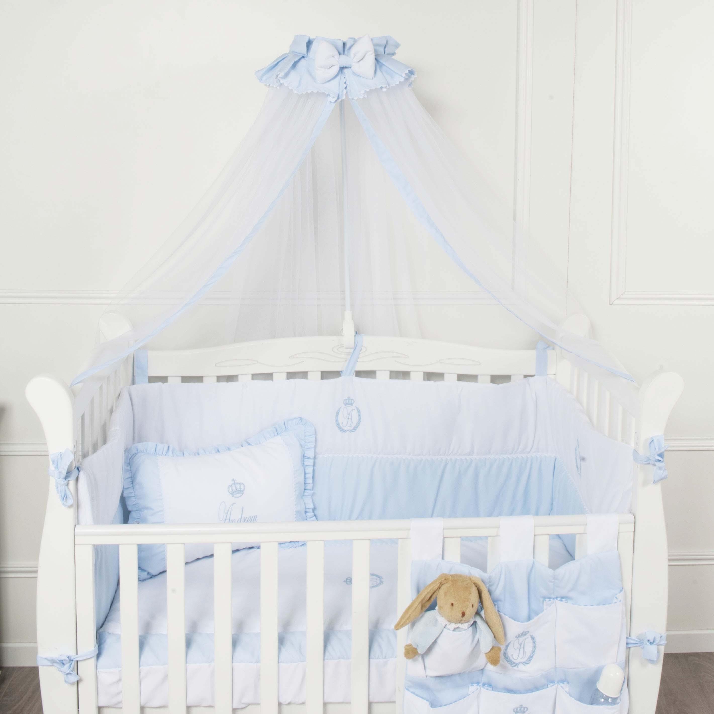 tour de lit bleu