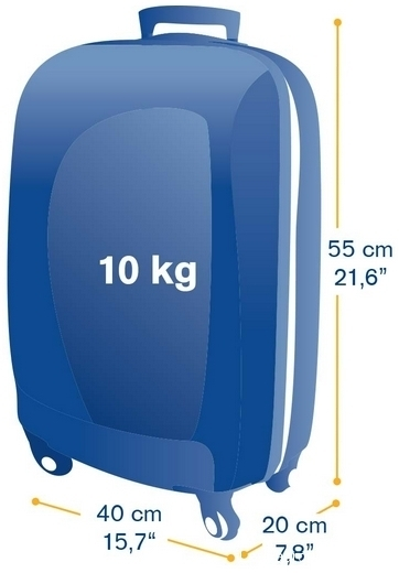 valise 55 x 40 x 20 cm