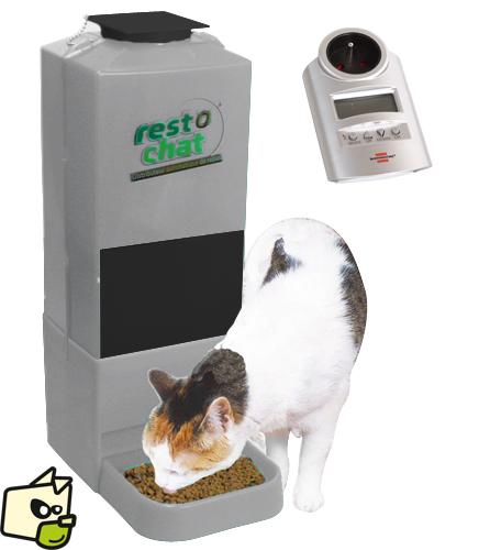 distributeur automatique de croquettes chat