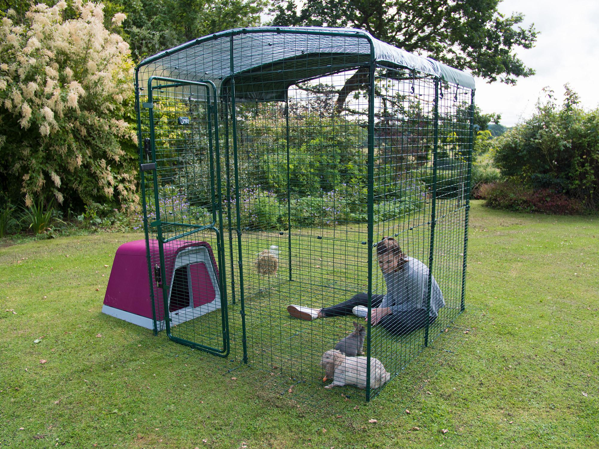 enclos lapin extérieur