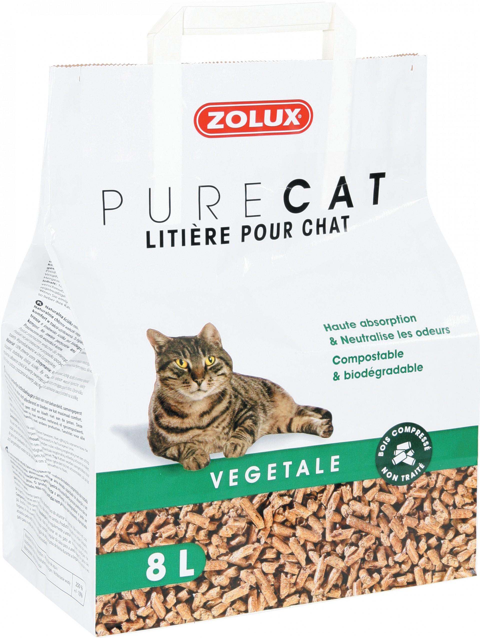 litière végétale chat