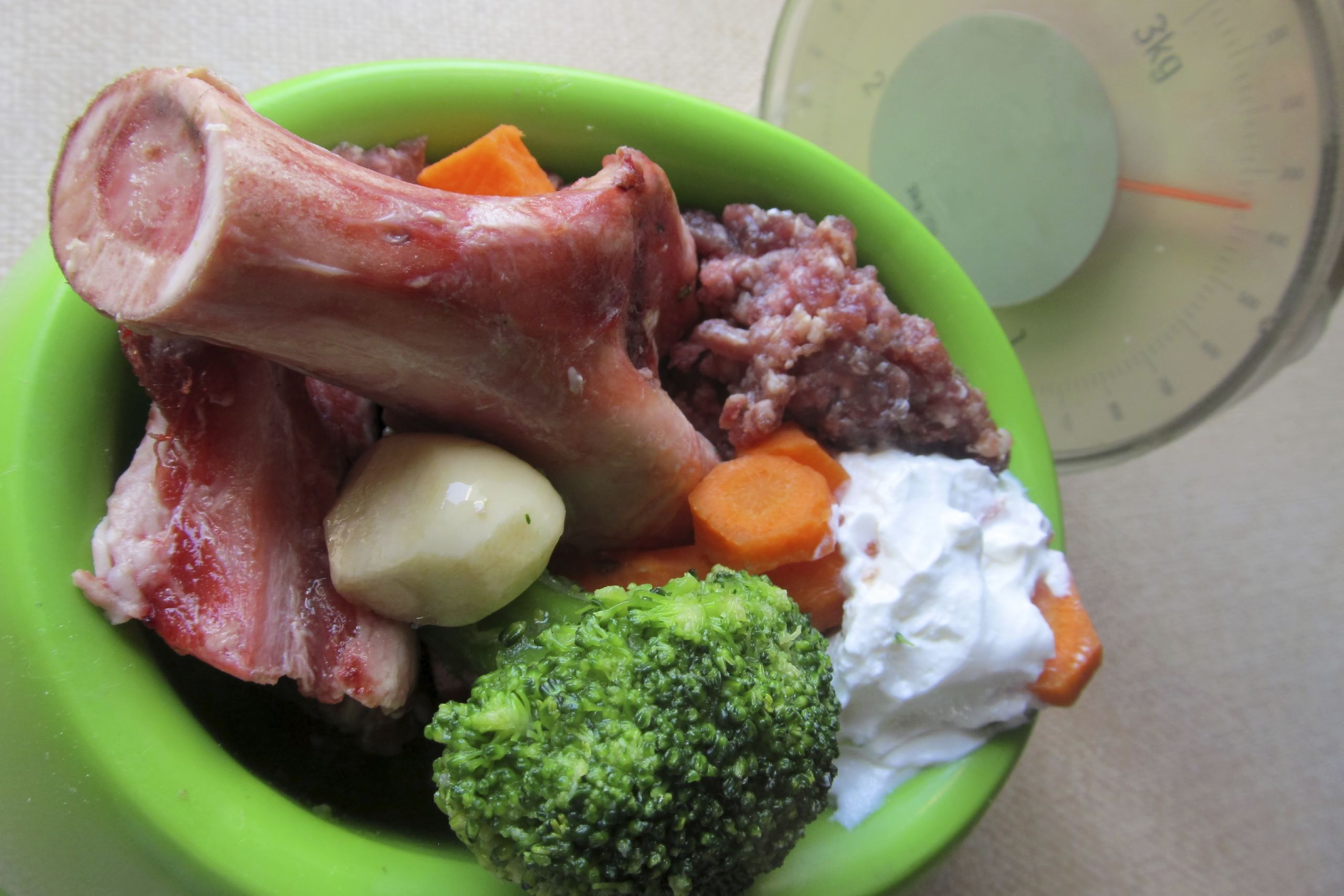 nourriture chien barf