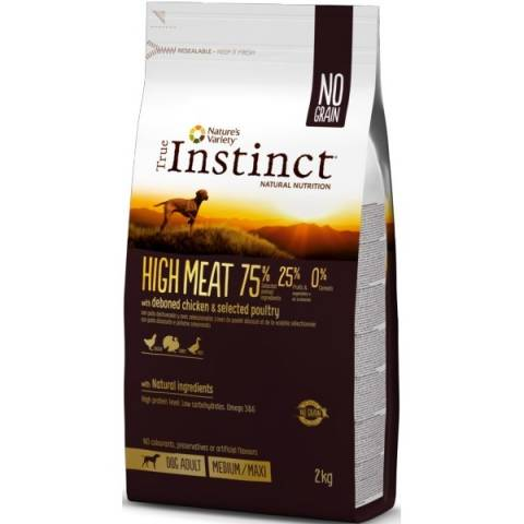 true instinct high meat chien