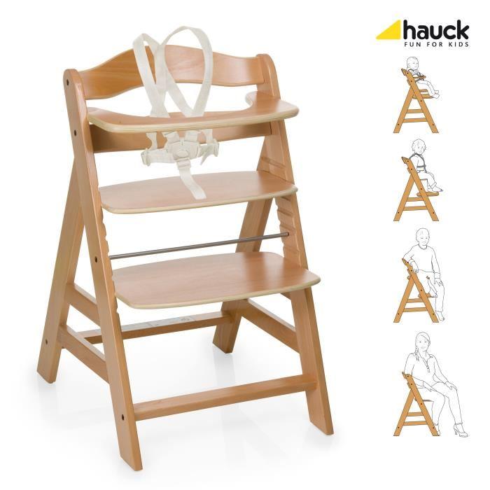 chaise haute évolutive en bois