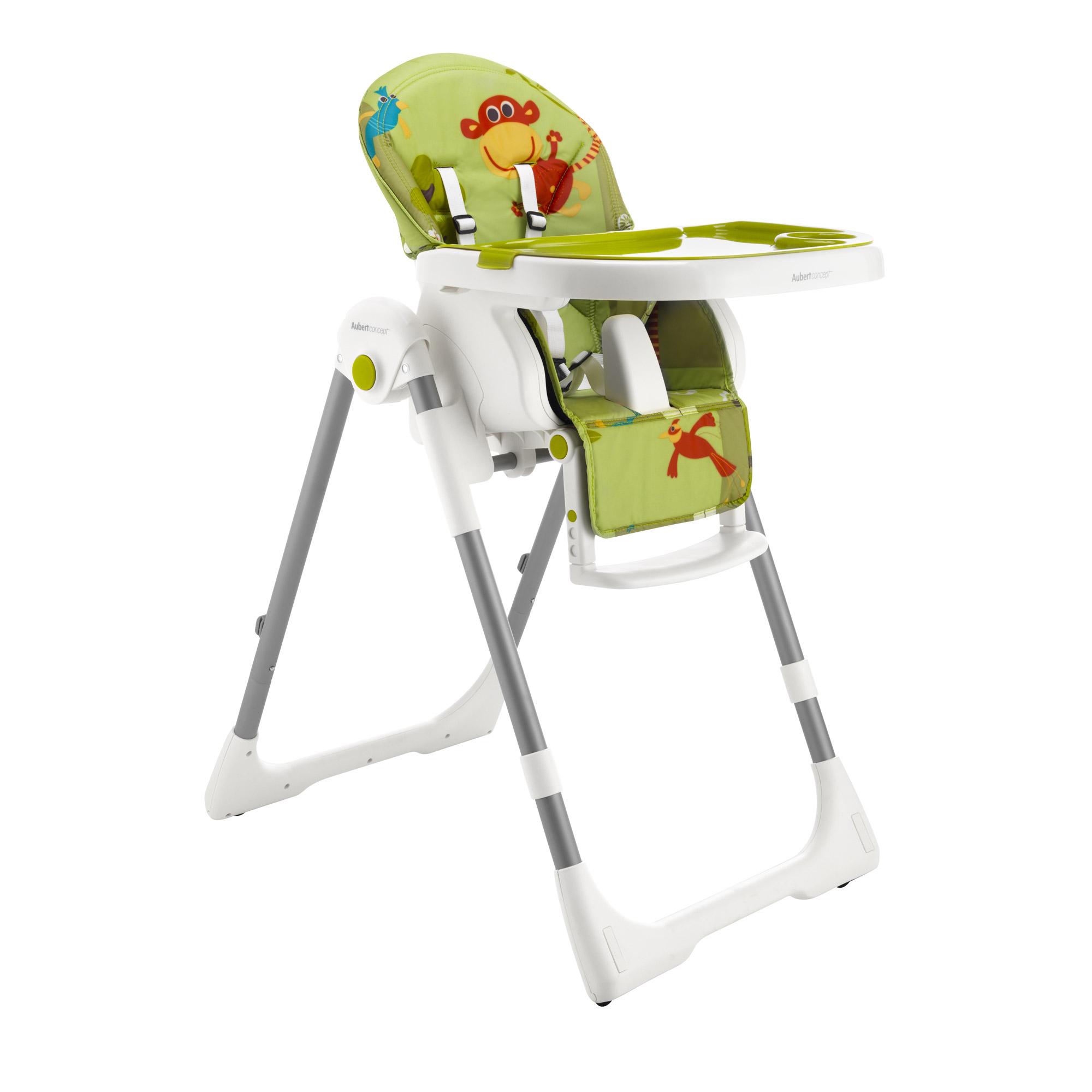 chaise haute jungle