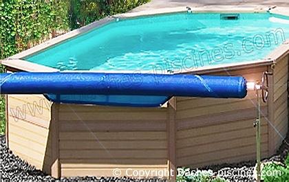 enrouleur bache piscine hors sol